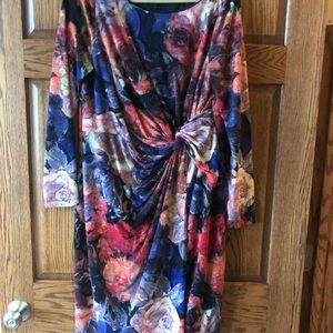 Multi color, long sleeve AP dress